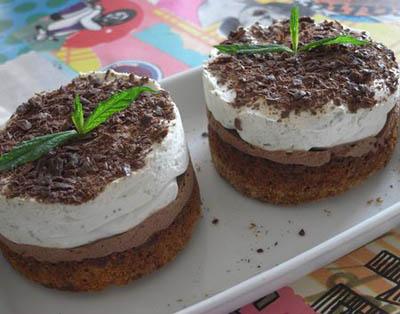 Bavarois menthe-chocolat