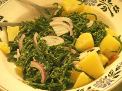 salade de salicorne aux oignons doux © cocineraloca.fr