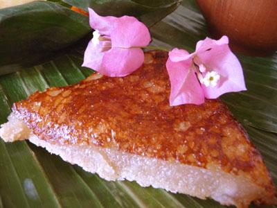 Gateau manioc lait de coco