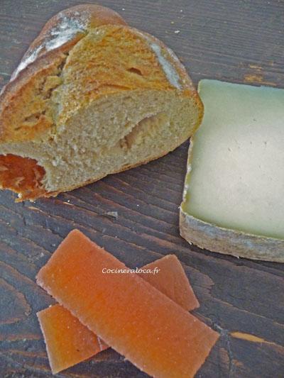 fromage et dessert banon et p 226 te de coings la cocinera loca