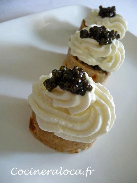 Bouchées surprises au caviar