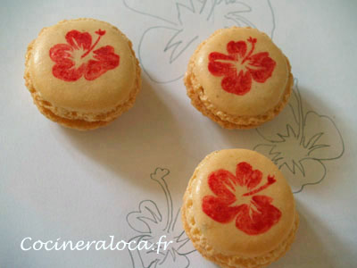 macaron a l'hibiscus de la cocinera loca