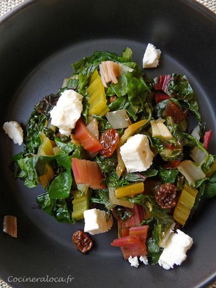Salade ti de de blettes multicolores la f ta la - Cuisiner blettes feuilles ...