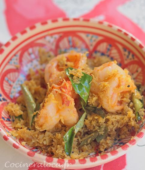 Chemmeen Ularthiyathu : masala de crevettes à la noix de coco et au Kokum ©cocineraloca.fr