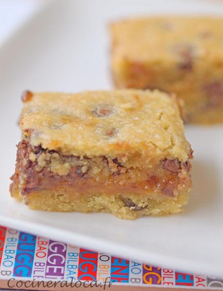 cookies bars au caramel et pépites de chocolat ©cocineraloca.fr