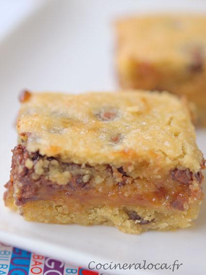 cookies bars au caramel et pépites de chocolat 2 ©cocineraloca.fr