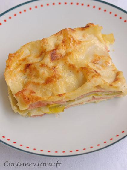 lasagnes-poireaux-jambon ©cocineraloca.fr