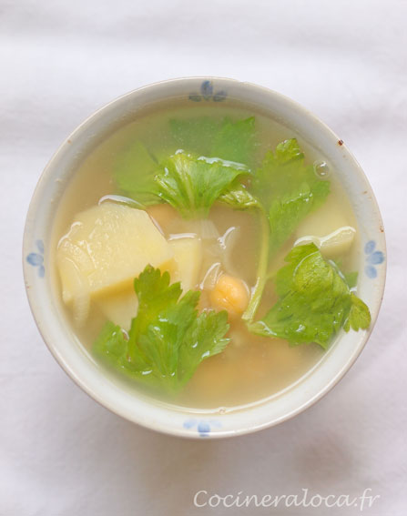 soupe céleri pois chiche ©cocineraloca.fr